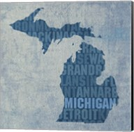 Michigan State Words Fine-Art Print