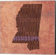 Mississippi State Words Fine-Art Print