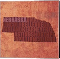 Nebraska State Words Fine-Art Print
