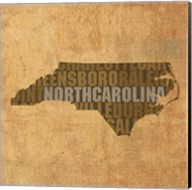 North Carolina State Words Fine-Art Print