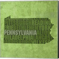Pennsylvania State Words Fine-Art Print