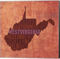 West Virginia State Words Fine-Art Print