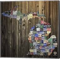 Michigan Counties License Plate Fine-Art Print
