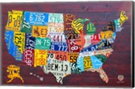 License Plate Map USA IV Fine-Art Print