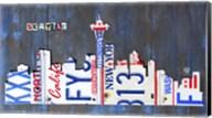 Seattle Skyline License Plate Art Fine-Art Print