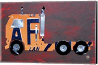 Semi Truck License Plate Art Fine-Art Print