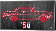 57 Chevy License Plate Art Fine-Art Print