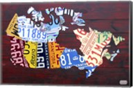 Canada License Plate Map Fine-Art Print