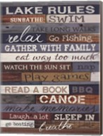 Lake Rules Fine-Art Print