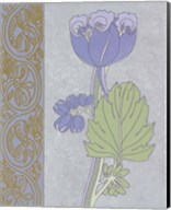Blue Tulip With Left Border Fine-Art Print