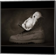 Baby And Boot Nap Fine-Art Print