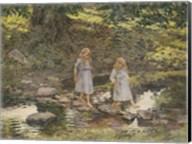 Stepping Stones, 1893 Fine-Art Print