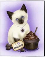 Chocolate Cupcake Kitten Fine-Art Print