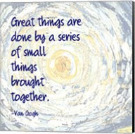 Great Things -Van Gogh Quote 2 Fine-Art Print