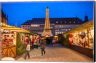 Christmas Market at Twilight, Germany Fine-Art Print