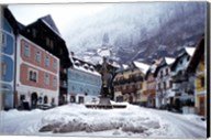 Austria Town Center in Winter Fine-Art Print
