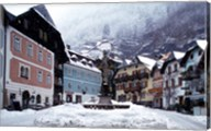 Austria Town Center in Winter Fine-Art Print