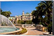 Fountain and Gardens, Monaco Fine-Art Print