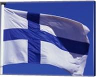 Finnish Flag, Finland Fine-Art Print