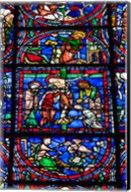 Stained Glass Window in Chartres Cathedral Fine-Art Print