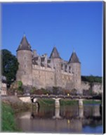 Josselin Chateau and River Oust, Brittany, France Fine-Art Print