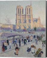 The Quai Saint-Michel And Notre-Dame, Paris 1901 Fine-Art Print