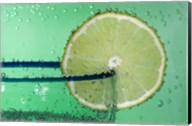 Margarita Glass And Lemon Closeup I Fine-Art Print