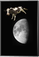 Spotted Cow Over The Moon Fine-Art Print