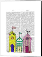 Beach Huts 1 Illustration Fine-Art Print