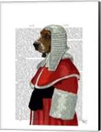 Basset Hound Judge Portrait I Fine-Art Print