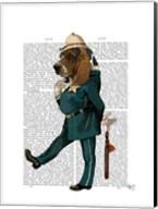 Basset Hound Policeman I Fine-Art Print
