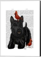 Scottish Terrier and Birds Fine-Art Print