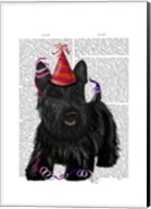Scottish Terrier and Party Hat Fine-Art Print