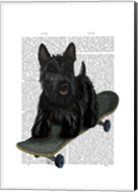 Scottish Terrier and Skateboard Fine-Art Print