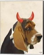 Little Devil Basset Hound Fine-Art Print