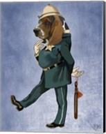 Basset Hound Policeman II Fine-Art Print