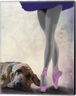 Bloodhound And Ballet Dancer Fine-Art Print