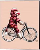 Sock Monkey on Bicycle Fine-Art Print