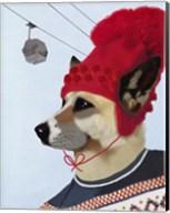 Dog in Ski Sweater Fine-Art Print