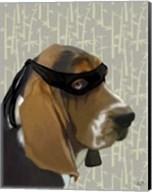 Ninja Basset Hound Dog Fine-Art Print
