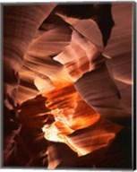 Red Sandstone Walls, Lower Antelope Canyon (Color) Fine-Art Print