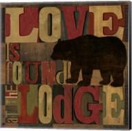 At the Lodge Printer Blocks II Fine-Art Print