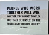 People Who Work Togther Will Win Fine-Art Print