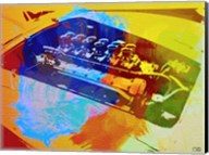 Ferrari Engine Watercolor Fine-Art Print