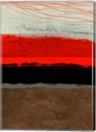 Abstract Stripe Theme Brown Fine-Art Print
