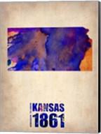 Kansas Watercolor Map Fine-Art Print