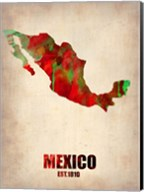 Mexico Watercolor Map Fine-Art Print