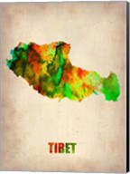 Tibet Watercolor Map Fine-Art Print