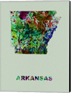 Arkansas Color Splatter Map Fine-Art Print