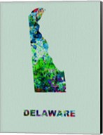 Delaware Color Splatter Map Fine-Art Print